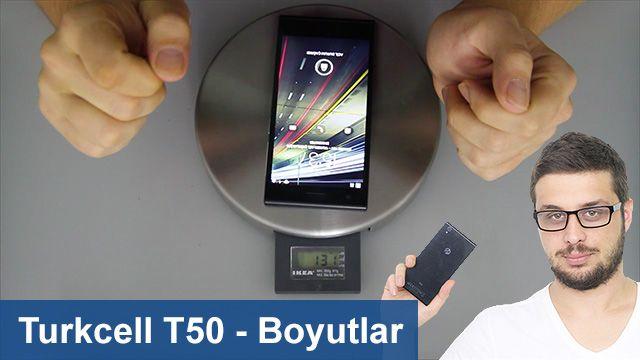 Turkcell T50 - Boyut Karşılaştırması