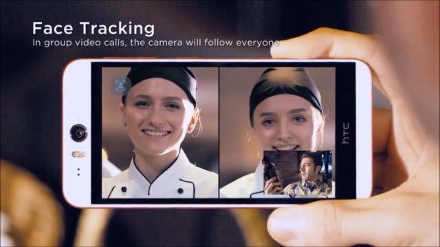 HTC Desire EYE: Yüz Takip Sistemi