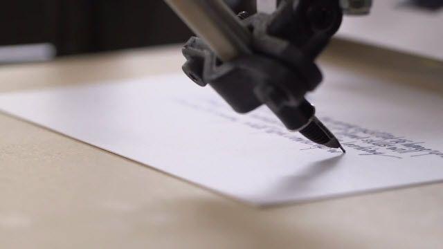 Bond: El Yazınızı Taklit Edebilen Robot