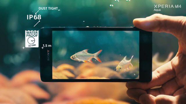 Sony Xperia M4 Aqua: Su ve Toz Geçirmez Telefon