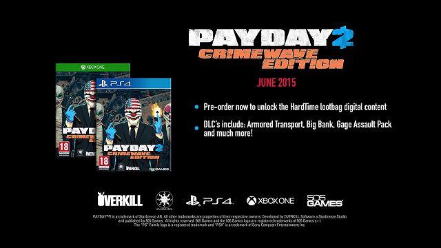 Payday 2 - PS4 ve XBox One Platformlarına Geliyor