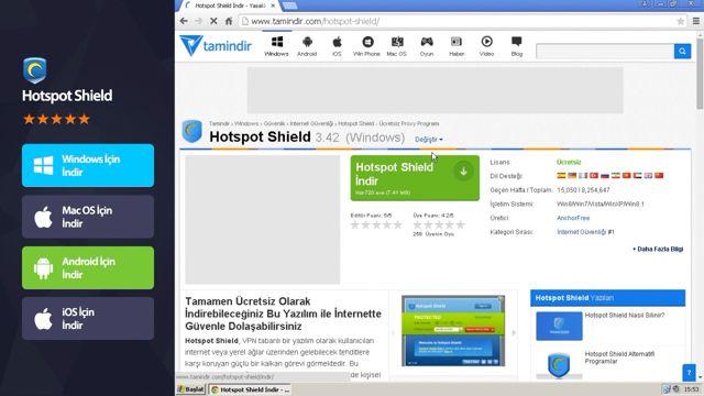 Hotspot Shield Nasıl Kurulur?