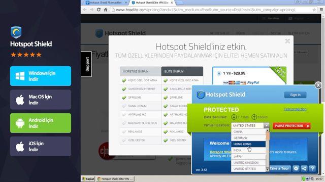 Hotspot Shield ile Yasaklı Sitelere Nasıl Girilir?