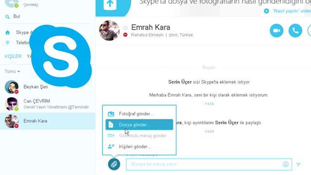 Skype'ta Dosya Yollama Nasıl Yapılır?