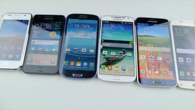 Samsung Galaxy S6, S5, S4, S3, S2 ve S1 Düşme Testi