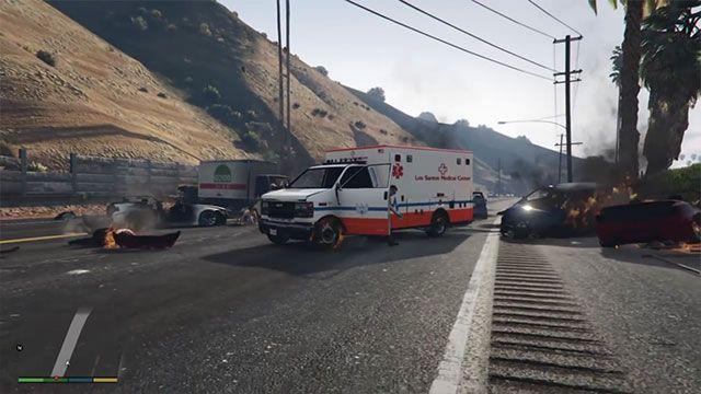 GTA 5'te Öyle Bir Zincirleme Kaza Oldu ki!