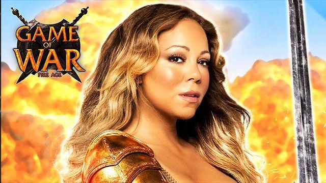 Kate Upton'dan Sonra Mariah Carey'li Game of War Reklamı