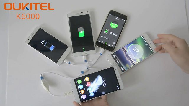 Oukitel K6000, 4 Akıllı Telefonu Şarj Edebiliyor