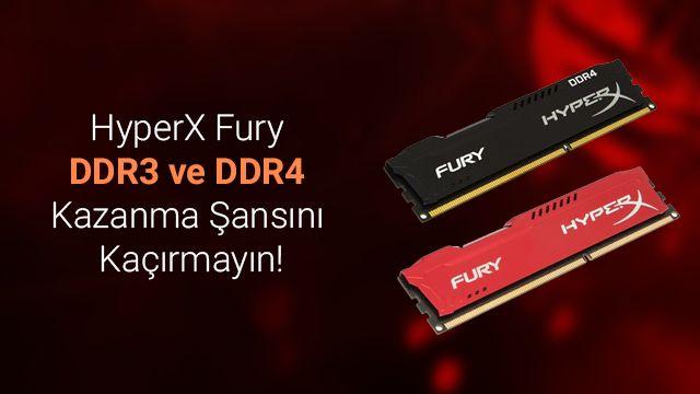 HyperX Fury DDR 3 ve DDR4 RAM İncelemesi ve Kampanyası