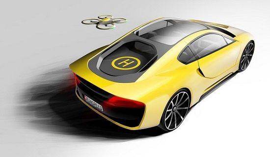 Dünyanın Drone Destekli İlk Otomobili Rinspeed Etos