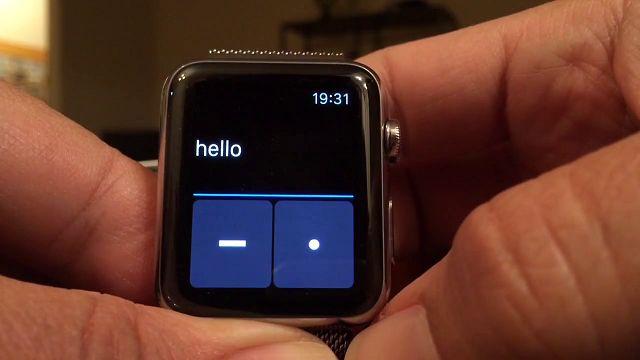 Apple Watch'da Mors Alfabesiyle Mesajlaşma