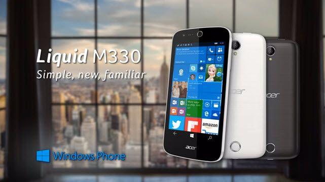 Windows 10'lu Ekonomik Akıllı Telefon Acer Liquid M330