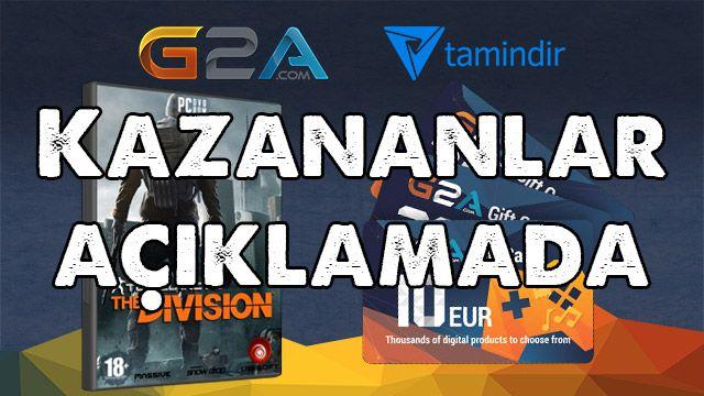 G2A'dan 4 Adet The Division ve Hediye Çeki Kazananlar Belli Oldu!