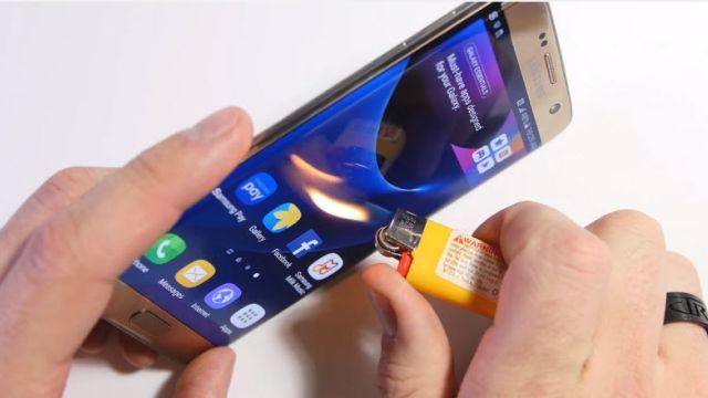 Samsung Galaxy S7 Edge Bükülme, Çizilme ve Yanma Testi