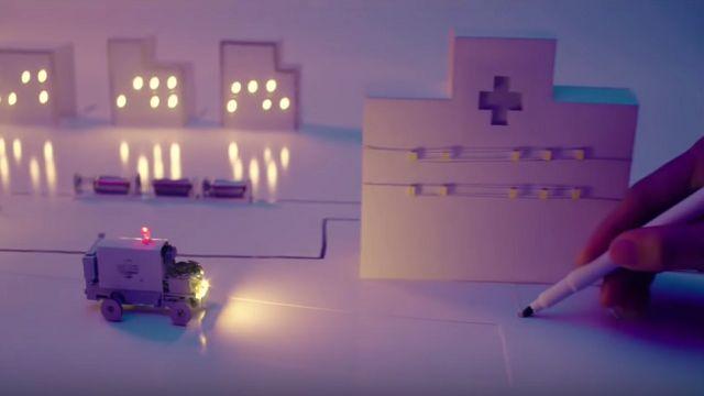 LED Işıklar Kullanılarak Oluşturulan Muhteşem Şehir