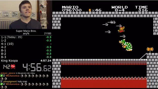 Dünya Super Mario Bros Hızlı Bitirme Rekoru Böyle Kırıldı