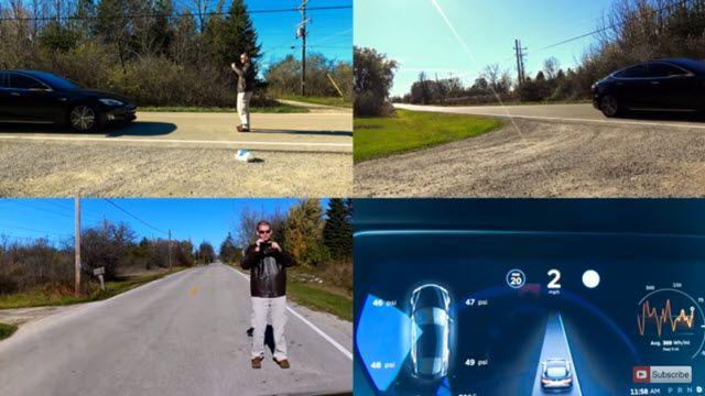 Tesla'nın Otomatik Pilotunu Test Etmek İçin Canını Ortaya Koydu