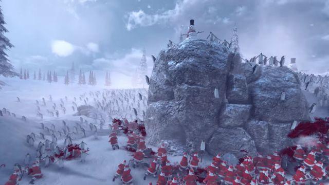 Binlerce Penguen ve Noel Baba Ordusu Savaş Simülatöründe Kapıştılar!