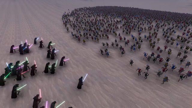 300 Jedi ve 60.000 Orta Çağ Şovalyesi Hunharca Savaşıyor, Kim Kazanır?