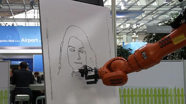 İnsan Portresi Çizen Akıllı Robot - CeBIT 2012