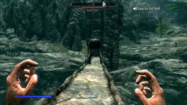 Skyrim Kinect Oynanış Videosu