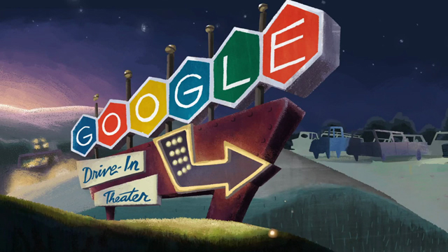 Google'dan İlk Arabalı Sinema'nın 79. Yıl Dönümü için Doodle