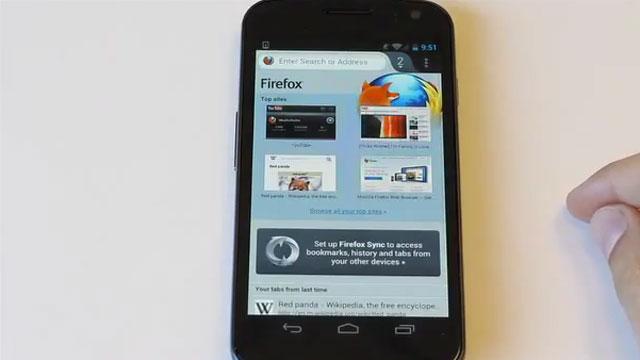 Yeni Firefox İçin Android Güncelleştirmesi'ne Genel Bakış