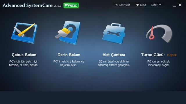 Advanced SystemCare ile Sistem Temizleme ve Hızlandırma
