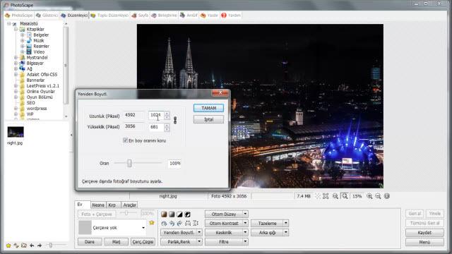 Photoscape - Resmi Yeniden Boyutlandırma