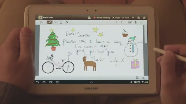 Galaxy Note 10.1 - Noel Baba'ya Not
