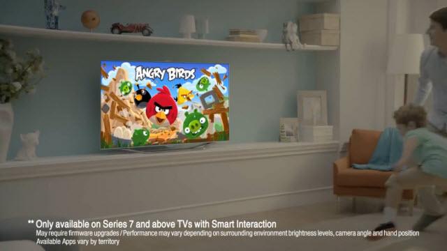 Samsung Smart TV ile Angry Birds Oynama Reklamı