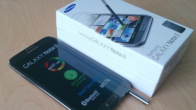 Samsung Galaxy Note 2 Kutu İçeriği