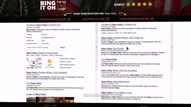 Bing ve Google Karşı Karşıya