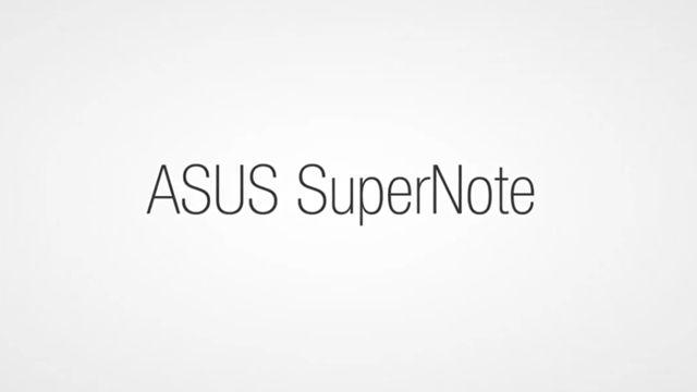 ASUS SuperNote Tanıtım Videosu