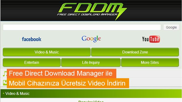 Download Manager For Android ile Mobil Cihazınıza Ücretsiz Video İndirin