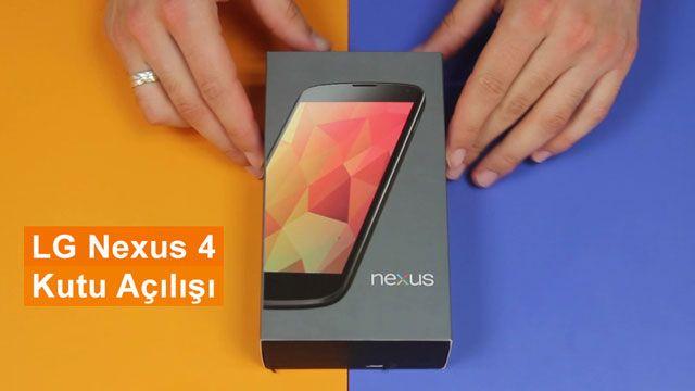 LG Nexus 4 Kutu Açılışı
