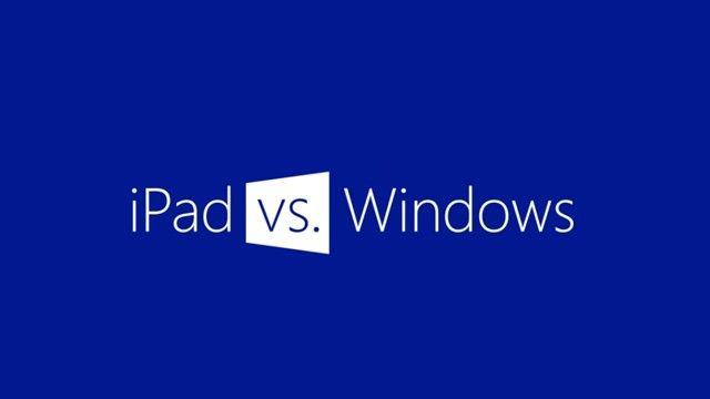 Windows Reklamı: iPad ile Windows 8 Tablet Karşılaştırması