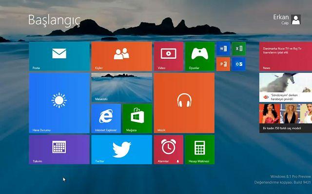 Windows 8.1 İpuçları - Masaüstünden Açılış