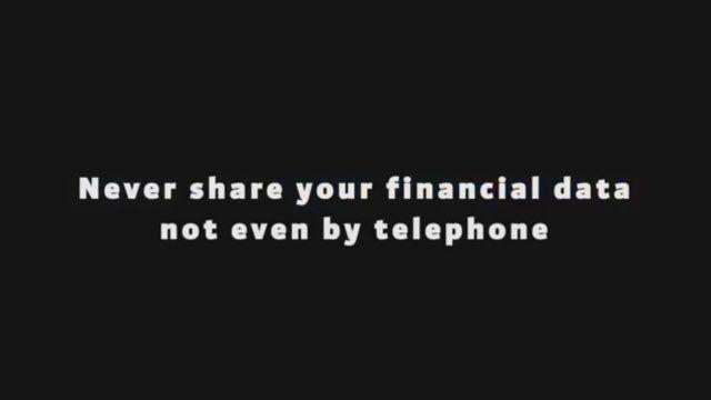 Kişisel ve Finansal Verilerinizi Asla Paylaşmayın