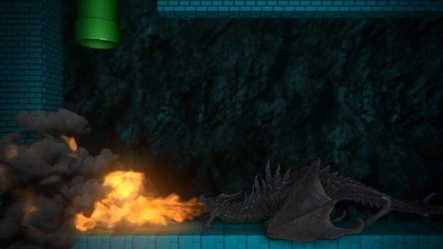 Modernleştirilmiş Süper Mario Oyununun Videosu