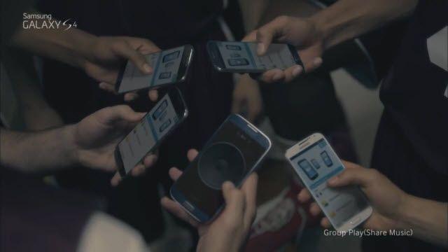 Samsung Galaxy S4: Müzik Paylaşma Özelliği Reklamı