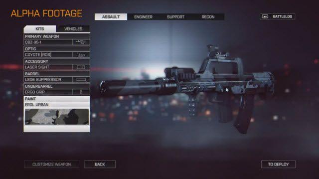 Battlefield 4 Silah Modifikasyon Seçenekleri