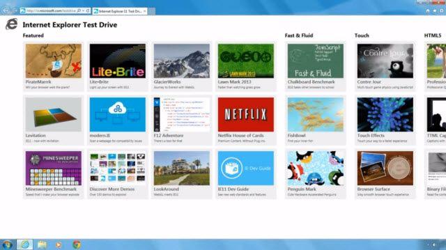 Internet Explorer 11 Önizleme Sürümü
