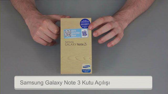 Samsung Galaxy Note 3 Kutu Açılış Videosu