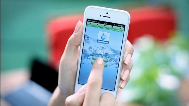En Hızlı Su Sipariş Uygulaması Damacana'nın Reklamı