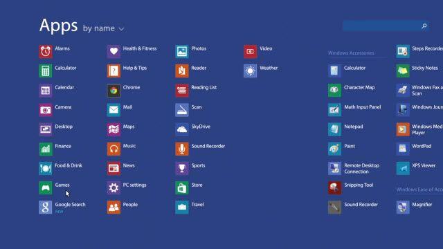 Windows 8.1'de Google Aramayı Geri Getirme