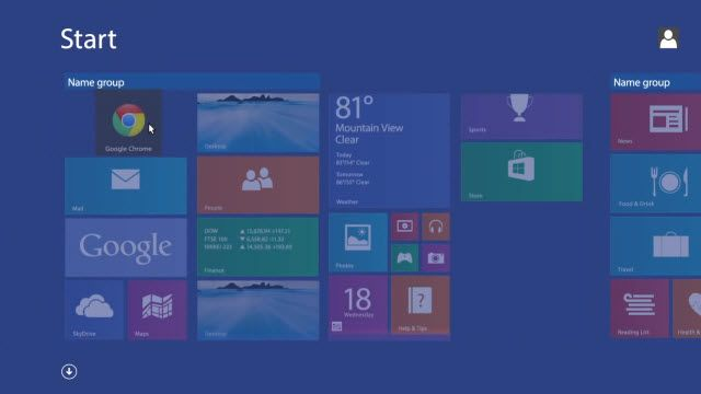Windows 8.1'de Google Chrome Geri Getirme