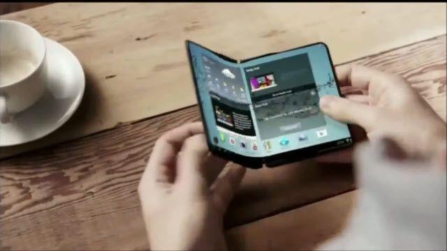 Samsung'dan Esnek Oled Ekran için Tanıtım Videosu