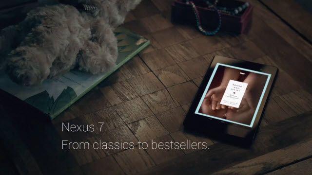 Google Nexus 7 için Yeni Televizyon Reklamı