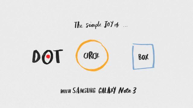 Samsung Galaxy Note 3 ile Nokta, Çember ve Kutunun Hikayesi